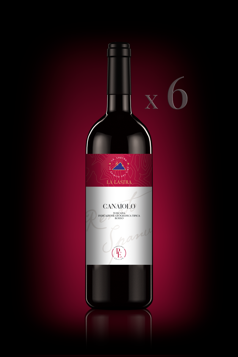 """IGT Toscana Rosso """"Canaiolo"""" - Organic - Personal Edition - 6 Bott. 0,75 Lt"""