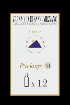 Confezione Tg. M - Vernaccia di San Gimignano DOCG Riserva - Biologico - 12 Bott. 0,75 Lt