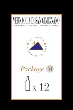 Package Size M - Organic White Wine - Vernaccia di San Gimignano - Tuscany - Buy Online